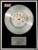 "THE POLICE  - 7"" Platinum Disc - ROXANNE"